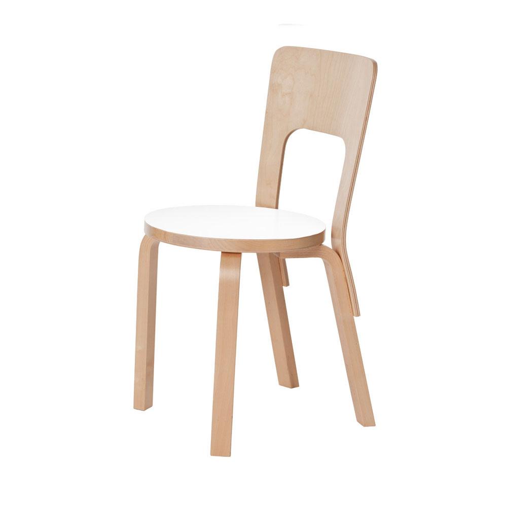 Wonderful Stol 66 Vit Laminat Stol | Artek | Länna Möbler | Handla online IP-96