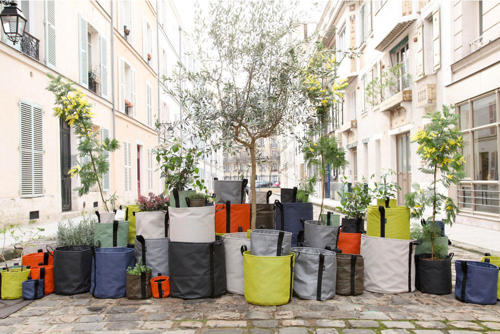 Bacsac Pflanzentasche Pflanzensack Jardiniere 8 L asphalt