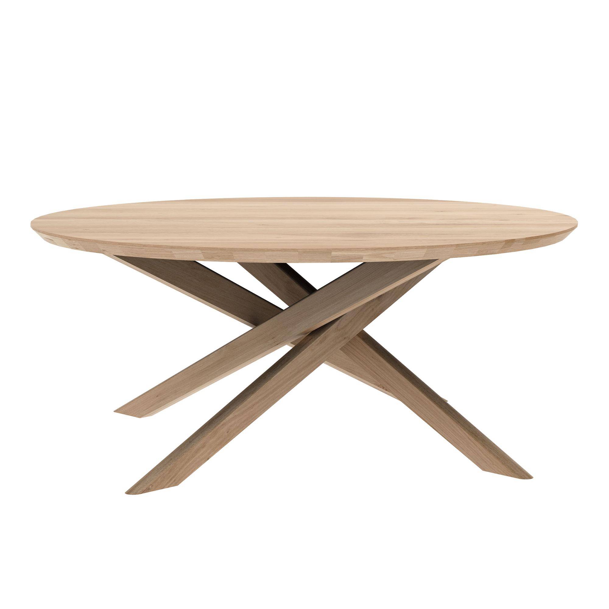 Mikado Round Coffee Table Oak
