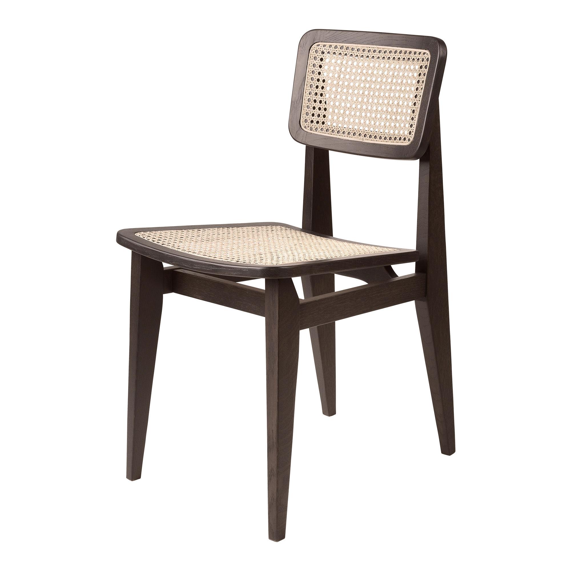 Svært C-Chair Dining Chair French Cane/ Black Oak Stol | Gubi | Länna ZH-11