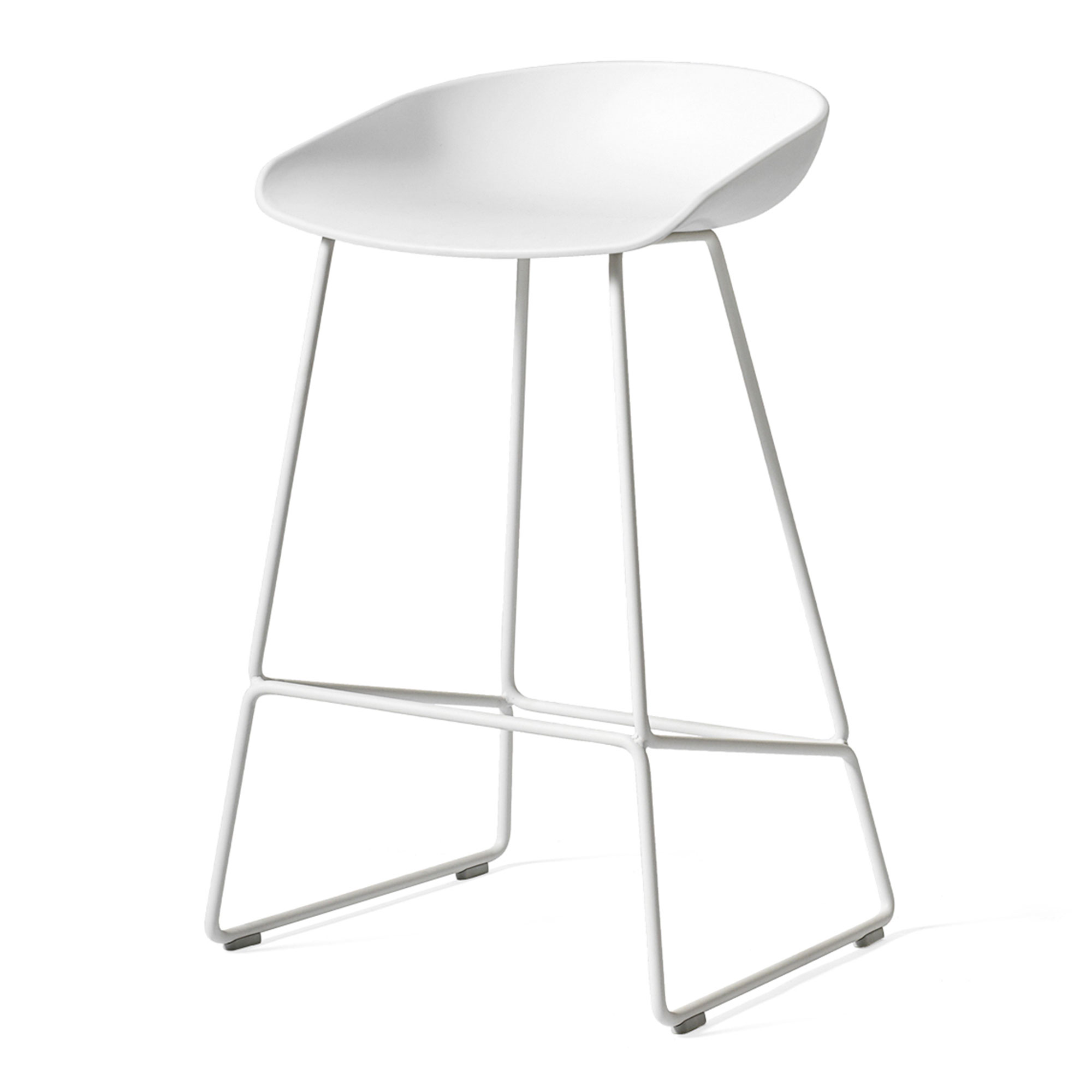 About a Stool AAS38 White White Powder Coated Steel