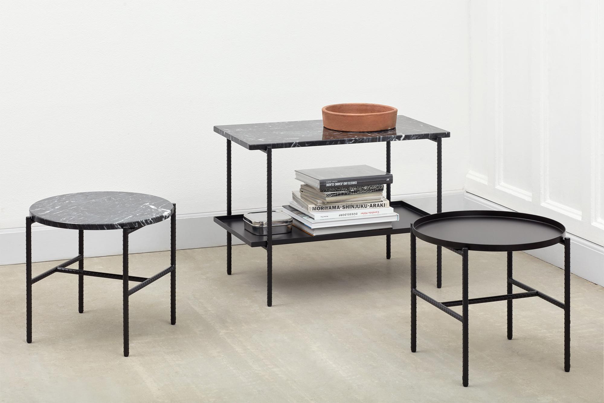 Rebar Side Table Ø45 cm Marble Top Sideboard | HAY | Länna