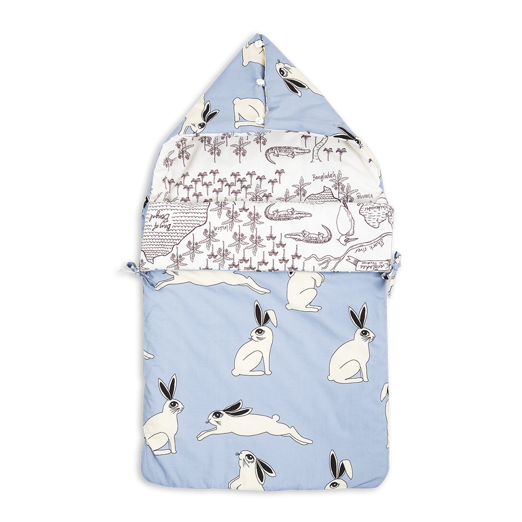 Rabbit Croco Map Sleeping Nest Sovp 229 Se Mini Rodini Home