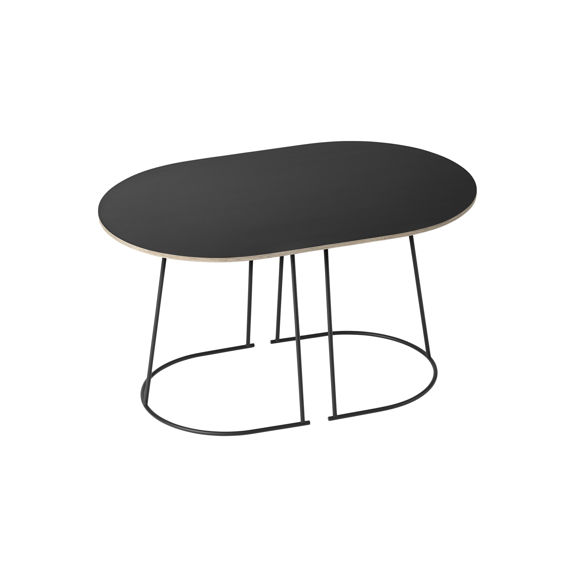 Airy Coffee Table Small Black Nanolaminate