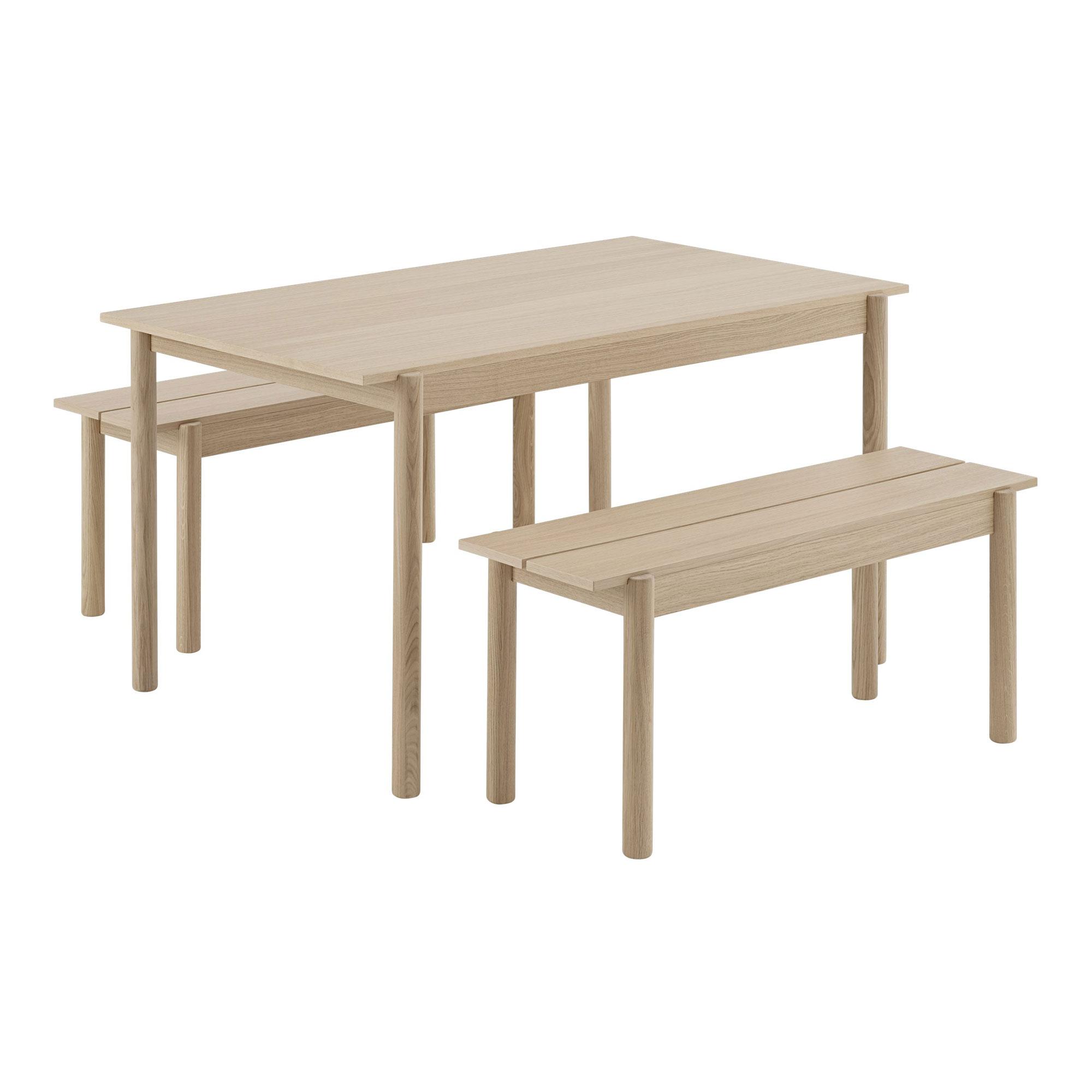 Toppen Linear Wood Table 140 cm Matbord   Muuto   Länna Möbler   Handla KS-12
