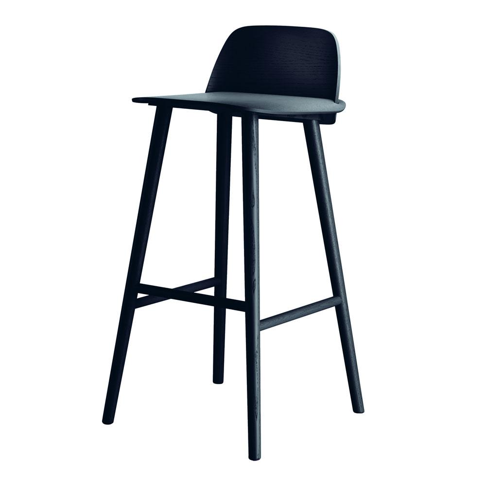 Nerd 75 cm Black Barstol | Muuto | Länna Möbler | Handla