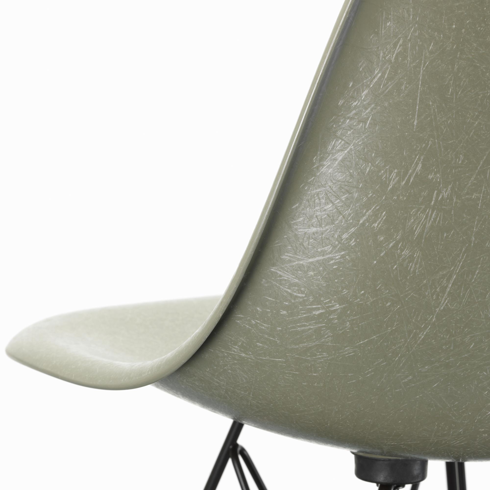 Eames Fiberglass Chair DSW Sea Foam Green Ash Honey Tone