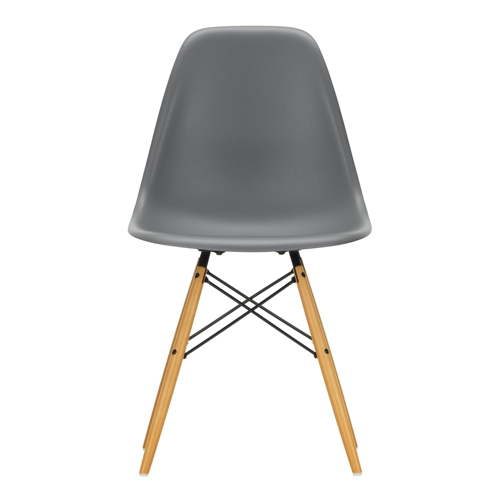 Eames Plastic Side Chair DSW Granite Grey 56 Ash Honey Tone