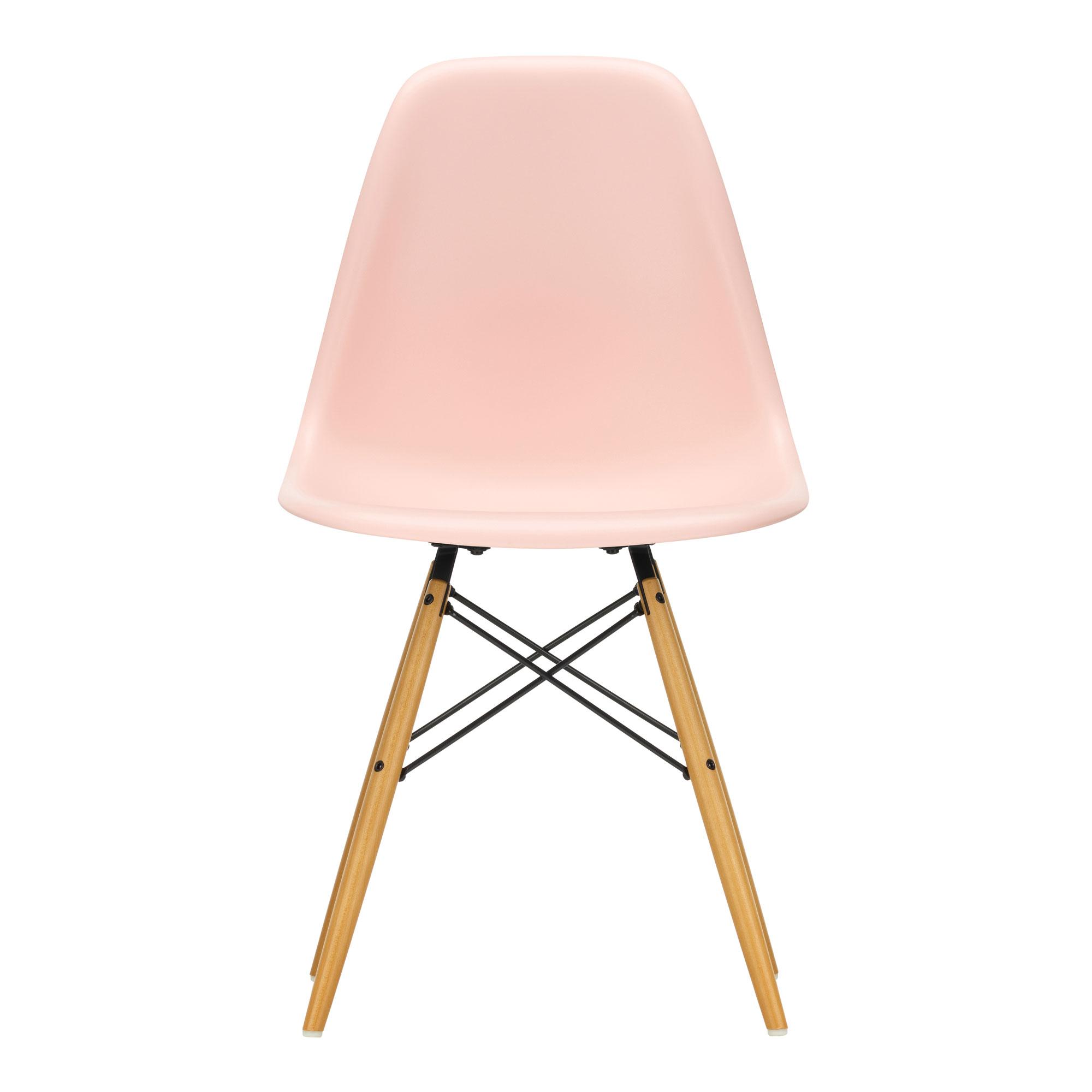 Eames Plastic Side Chair DSW Pale Rose 41 Ash Honey Tone